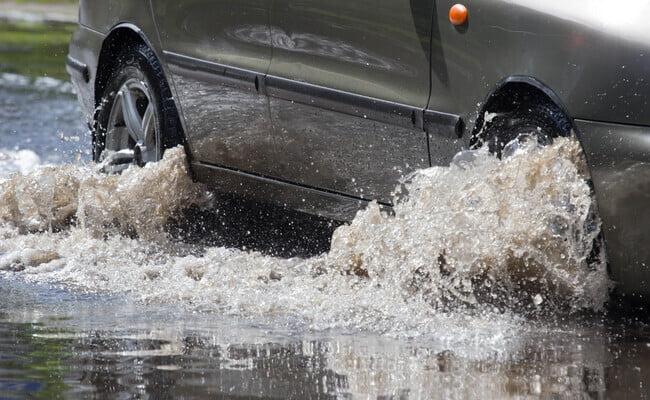 flash flood on street