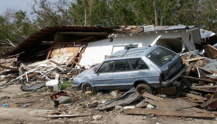 hurricane katrina damage in 2005