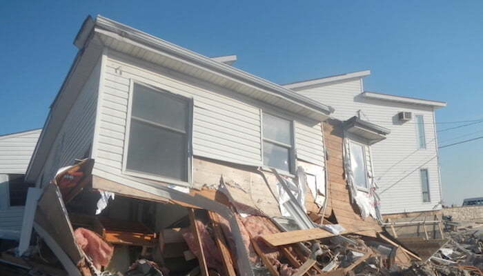 hurricane sandy damage to home in 2012