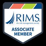 Badge: RIMS: The Risk Management Society. Associate Member.