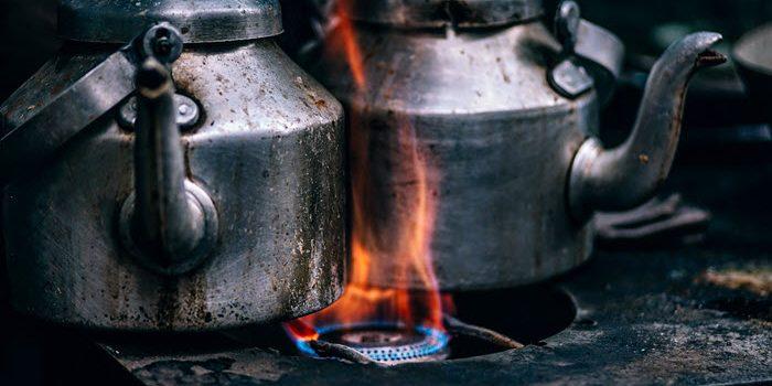 Burned tea kettles