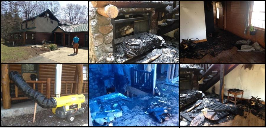 Fire damaged home in Michigan.