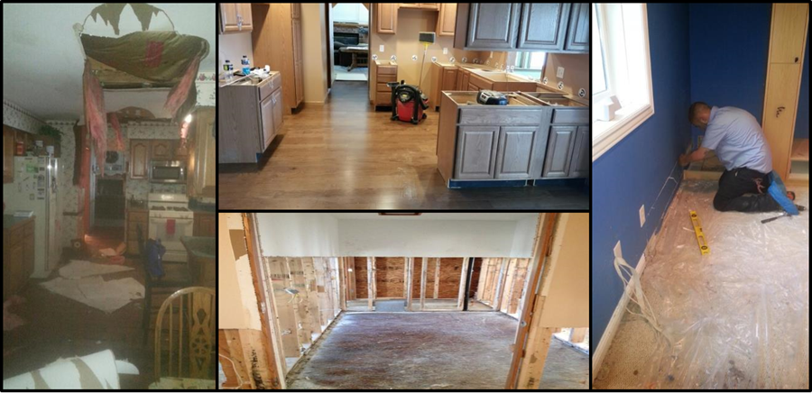 Reconstruction project before and after
