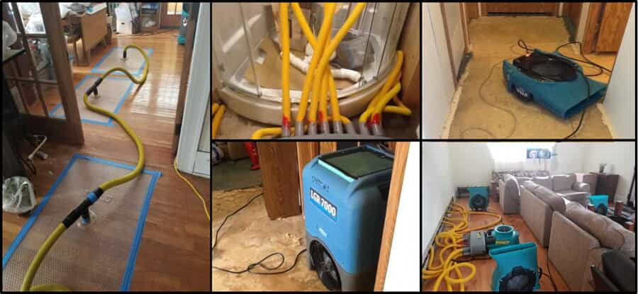 Multiple picutres of cleaning equipment