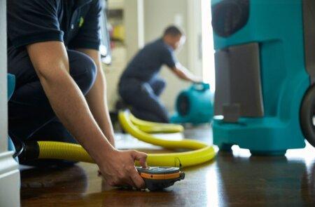 Technicians Servicing Floors