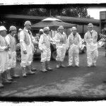 people in biohazard suits