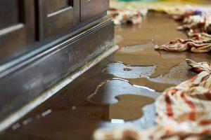 water on floor