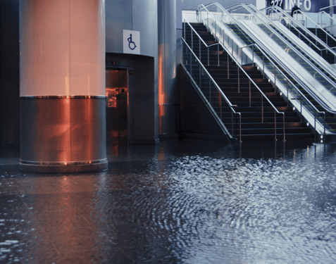 Building flooded