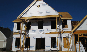 Home being constructed