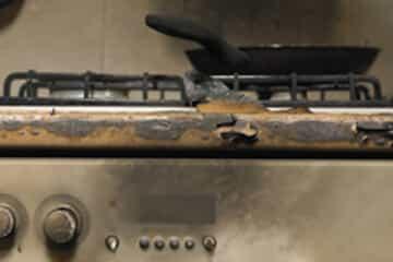 pan on a burned stove