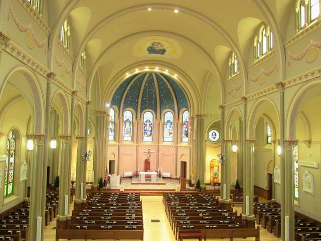 Inside the a church