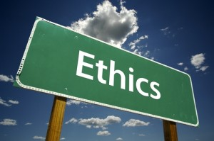 Ethics sign