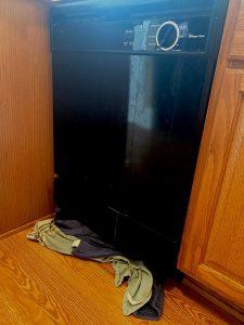dishwasher leak flooding kitchen