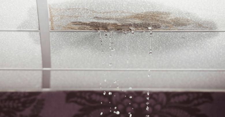 water leaking thorugh a ceiling
