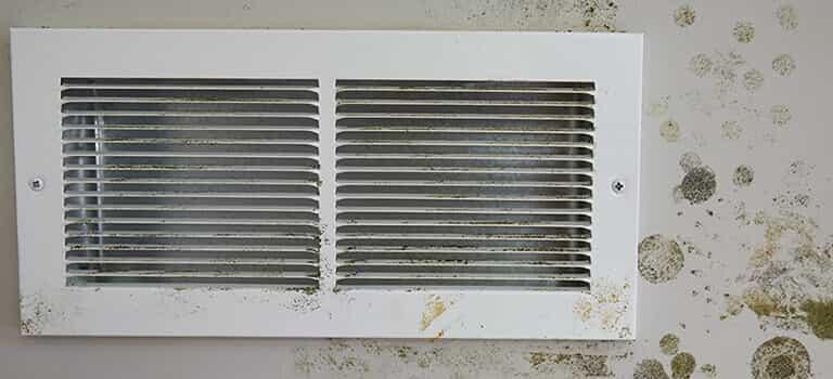 Mold around a vent