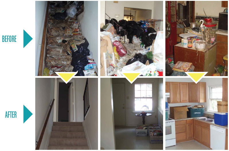 hoarding before and after