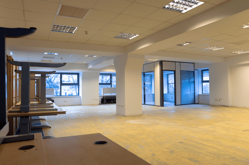 A newly renovated commercial space