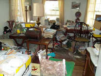 Hoarded living space