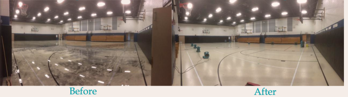 Gymnasium before and after pictures