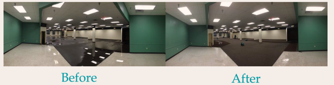 Commercial property before and after
